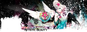 Artistic Beauty Facebook Cover version 1 by Convicted-Vixen