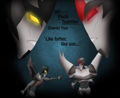 Starscream and Ouzel- chapter art by 1ForSorrow2ForJoy