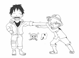 Naruto vs Luffy by vedabitsaha