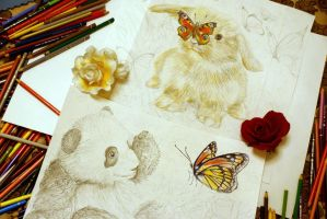 My Favourite Animals - sketch by Alena-Koshkar