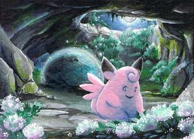 Clefable on MT.Moon