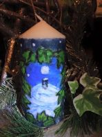 Yule candle 2 first side by Okarnillart