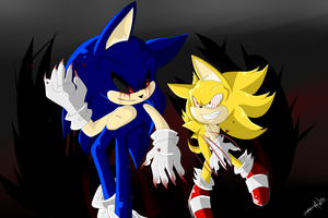 EXE VS Fleetway by SonadowRoxmyWorld