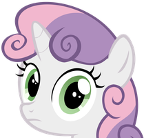 Sweetie Belle Stare by speedingturtle