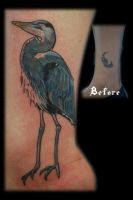 Blue Heron Cover-up by Omedon