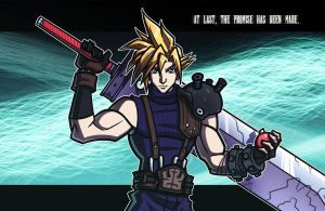 NYCC Print - The Promise - Final Fantasy VII by JoeHoganArt