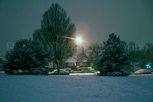 Winter Street by PammyDsPhotography
