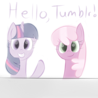 New Tumblr!  Ask Twilight and Cheerilee by Sharkwellington