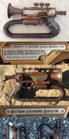 Steampunk trumpet Nerf mod - LandgraveCustoms comp by GirlyGamerAU