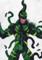 Symbiote Green Goblin by ChahlesXavier