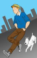 A Modern Tintin by JesIdres