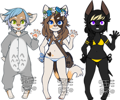 Base Adopts 3 (one left) by She-Foxy