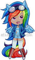 Rainbow Dash MLP:FIM by ChibiChise