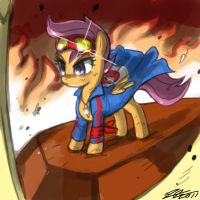 Scootaloo the Digger by johnjoseco