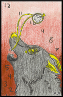 Death Clock ACEO by The--Working-Wulf