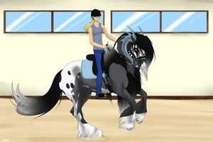 SAS Walking Tall - Dressage Training - Tempest by 11IceDragon11