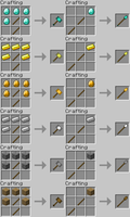 Minecraft Tool/Weapon Ideas - WarHammer and Spear by RedPanda7
