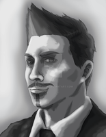 Male character portrait by Attaora