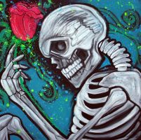 Skeleton Rose by barbosaart