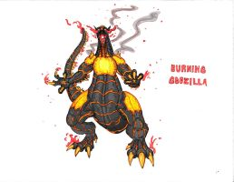Burning Godzilla by Kaijudude