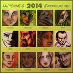 2014 Art Summary by lupienne