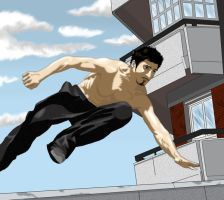 David Belle by freakyguitar