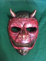 Red Devil Assassin mask by UglyBabyEater