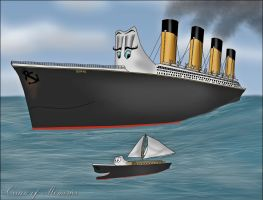 Escort to the Sea by RMS-OLYMPIC