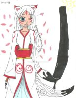 Human Okami Amaterasu - Black Ink by Karebear-4ever