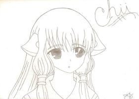 Chii from chobits by Dark-bliss