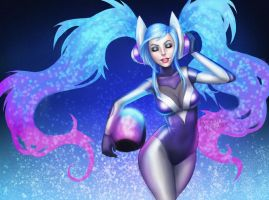 league of legends: DJ Sona by iMMuhUnic0rn