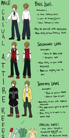 Male Casual Attire References by Dante-Aran