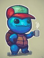 Squirtle relaxing by Trudsss