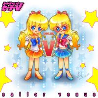 Sailor Venus and Sailor V by kaset218