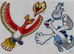 Ho-oh and Lugia!!! by stefano-roca