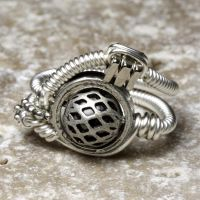 Silver Cyberpunk Ring by CatherinetteRings