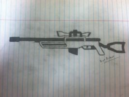 Sniper Rifle (Drawing) by RatRobot