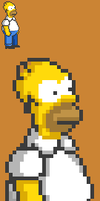 The Simpsons Arcade Game SNES Homer by retrogamer406