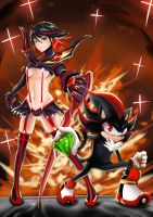 Kill la Kill with Shadow the Hedgehog by Grooth