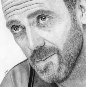 Hugh Laurie by NicksPencil