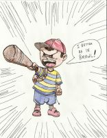 ness gets angry by misterFISH