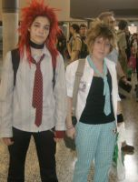 Student Axel and Sora by Cosplay-Team