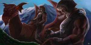 I am getting too old as a dragon rider.. by Brainiday