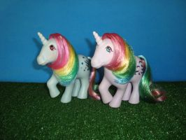 My Little Pony Toy 80's - Moonstone and Windy by GraphicPlanetDesigns