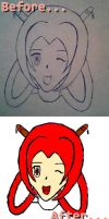 My drawing Before and After by AdrixCosta