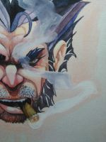 Wolverine watercolor by RubenFD