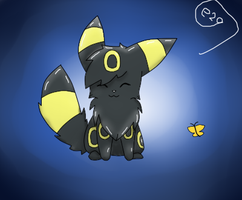Sitting Umbreon by Espeon2Glaceon