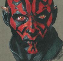 Darth Maul colored pencil by maulsballs