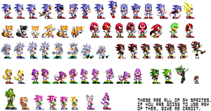 All of my sprites by JunnBoi