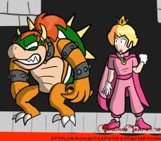 Queen Bowser and Prince Peach by BrokenTeapot